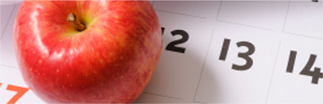 Make Your Reservation - Calendar Photo with an apple