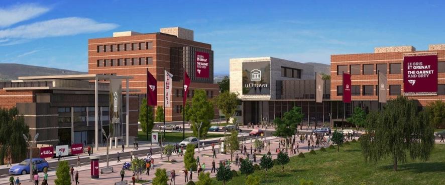 Vue virtuelle du campus de l'Université d'Ottawa